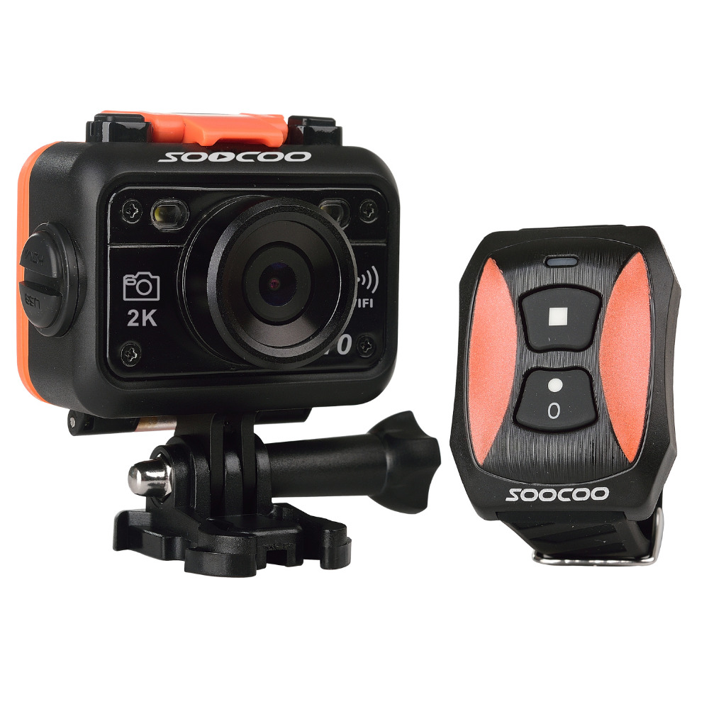 SOOCOO S70 2K Sports Action Camera 2K@30fps 1080p@60fps 30M Waterproof Build-in WIFI with Watch Remote  Control