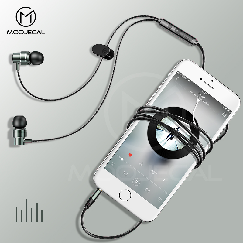 MOOJECAL Professional Earphone Super Bass Headset with Microphone Stereo Earbuds for Mobile Phone Samsung Xiaomi fone de ouvido