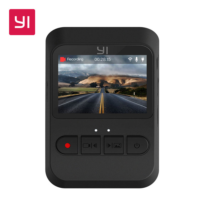YI Mini Dash Caméra International Version 140 Ultra grand-angle 1080 p 30fps Design Discret 2.0 LCD Écran