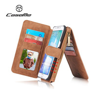 Genuine Leather Wallet Flip Case Cover For IPhone X 5 S SE 6 6s 7 8