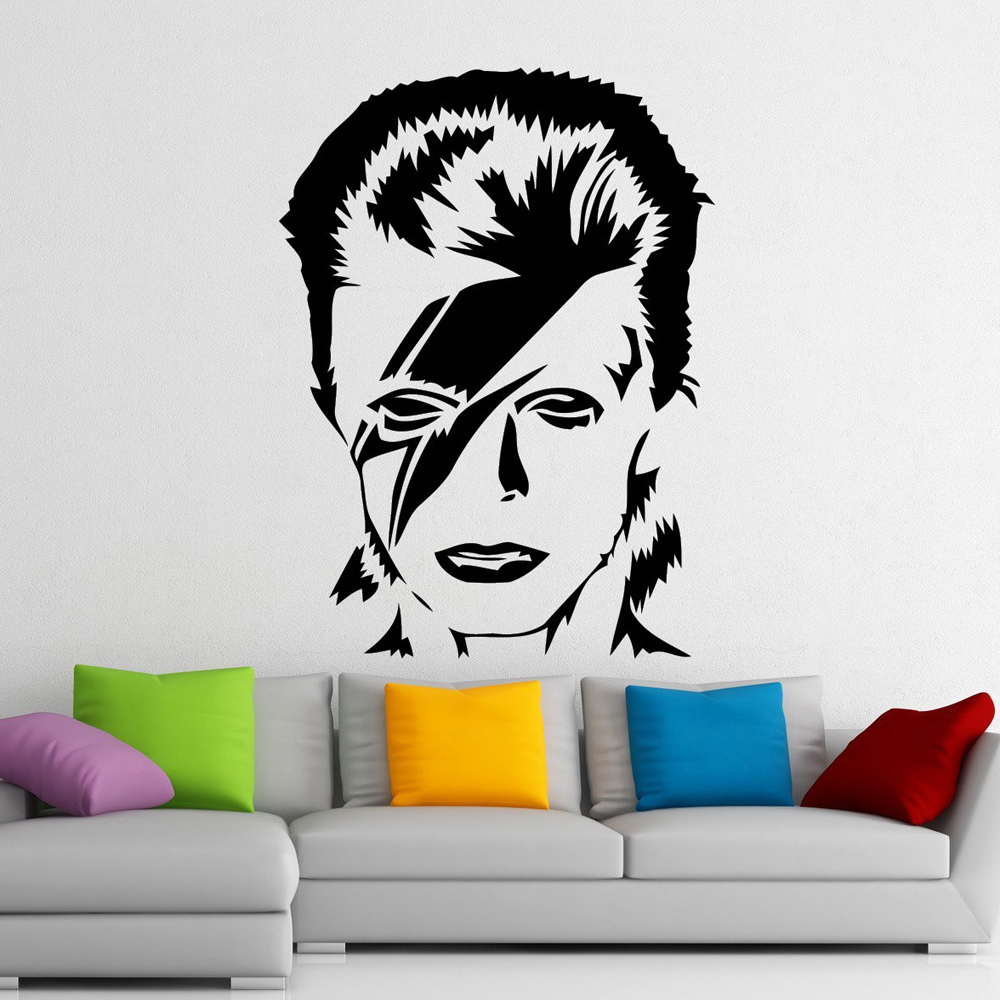Us 9 11 31 Off David Bowie Wall Stickers Singer Music Wall Decals For Kids Living Room Home Decor Vinyl Stickers Muraux Home Decor Poster A301 In