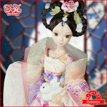 Горячая Распродажа 11 дюймов китайская фея кукла Подарочная Коллекция#9082 Chang E Fly to the moon