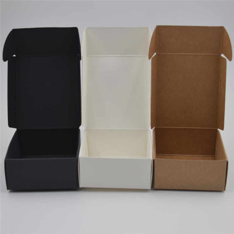 Black Kraft Paper Gift Packing Boxes,Blank Soap Box,white Jewelry/Wedding/Party/Candy/carft Storage Box,brown packaging boxes
