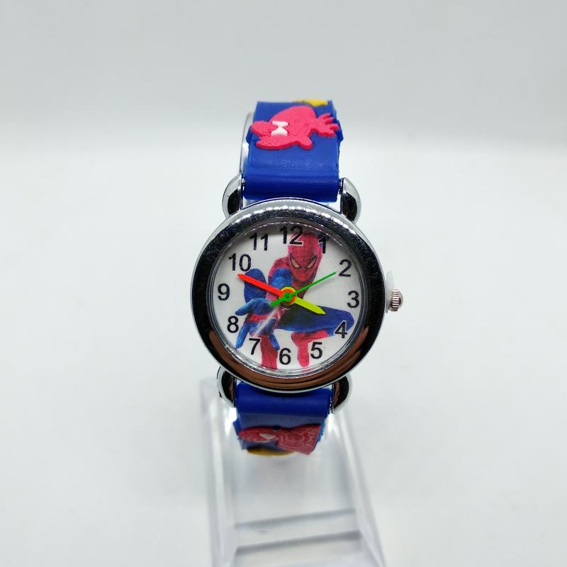 Cartoon Superman Spiderman Kids Watches Girls Boys Children Watch Students Quartz Wristwatches Suitable For Use In 2-6 Years Old