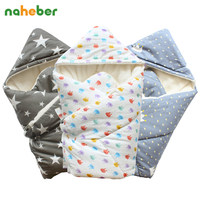 Baby Swaddle 90 90cm Baby Blanket Thick Warm Berber Fleece Envelopes For Newborns Infant Wrap Baby