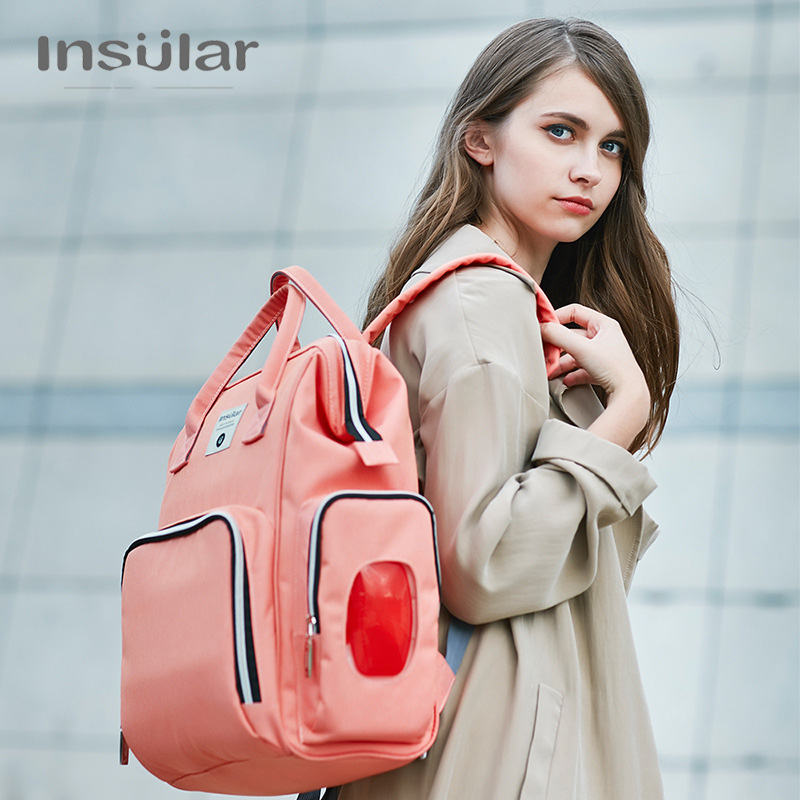 INSULAR New Baby Diaper Bag Fashion Mummy Maternity Nappy Bag Large Capacity Baby Bag Travel Backpack Designer Nursing BagINSULAR New Baby Diaper Bag Fashion Mummy Maternity Nappy Bag Large Capacity Baby Bag Travel Backpack Designer Nursing Bag