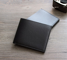 Men's Wallets Credit Business Card Holders Fashion Black PU Leather Wallets Purse Carteira Gift
