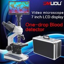 Promo offer Professional Digital Binocular Microscope 40-1600X 7-inch LCD screen sperm mites a drop of blood test instrument Biological