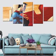 Modern wall art canvas painting 5 hd printed superman home decoration pictures