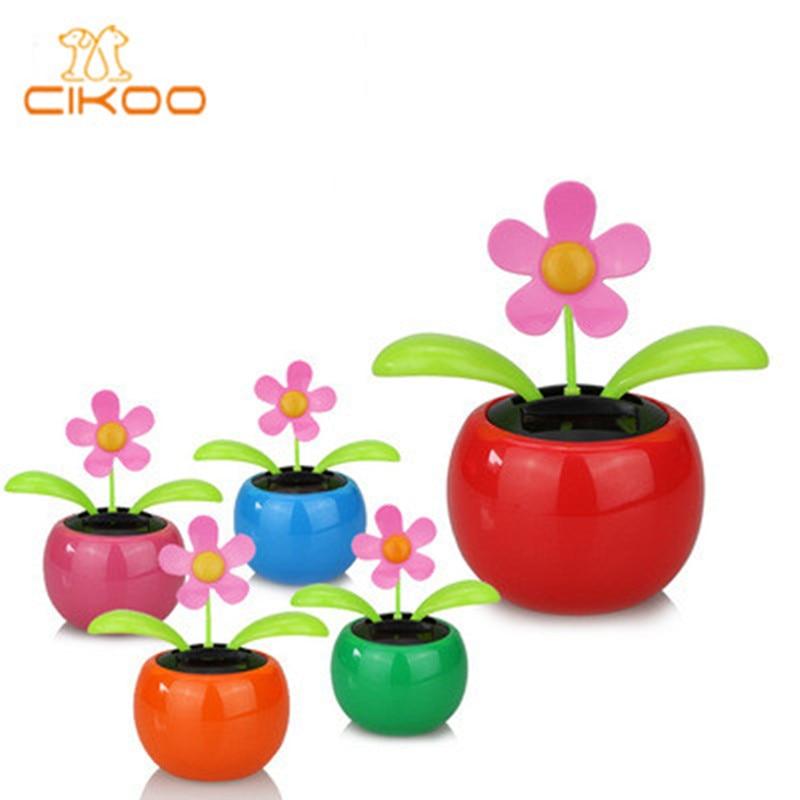 Solar Powered Dancing Flower Toy Flip Flap Car Desk Car Dancer Bobble Toy Flower Classic Solar Toys Creative Gift For Children