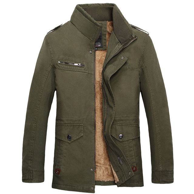 e45300910 2017 Autumn Winter New Casual Stand Collar Miltary Style Casacas Para Hombre  Warm Medium Long Winter Men Parka Thick