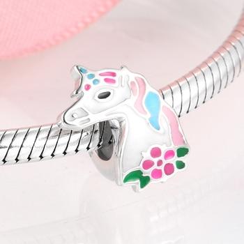 Pink Unicorn Beads Fit Bracelet