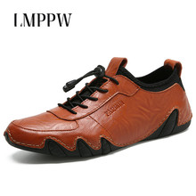 New Men Casual Shoes Genuine Leather Sneakers 2019 Men's Business Casual Leather Shoes Fashion Breathable Male Flats Board Shoes ecco fashion casual men sneakers genuine cow leather shoes mens business breathable waterproof casual sports shoes