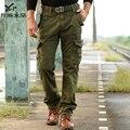 Pantalones militares de la vendimia bolsas guardapolvos de lavado con agua masculina 100% algodón pantalones 2013 otoño y el invierno de promoción