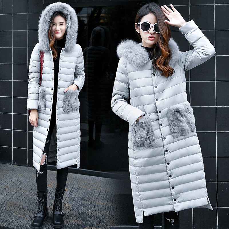 Winter Mother Clothing Long   Down     Coats   Ladies Goose   Down   Jackets Warm Parka Women Outerwear Winter   Coats   White Duck   Down   Jacket