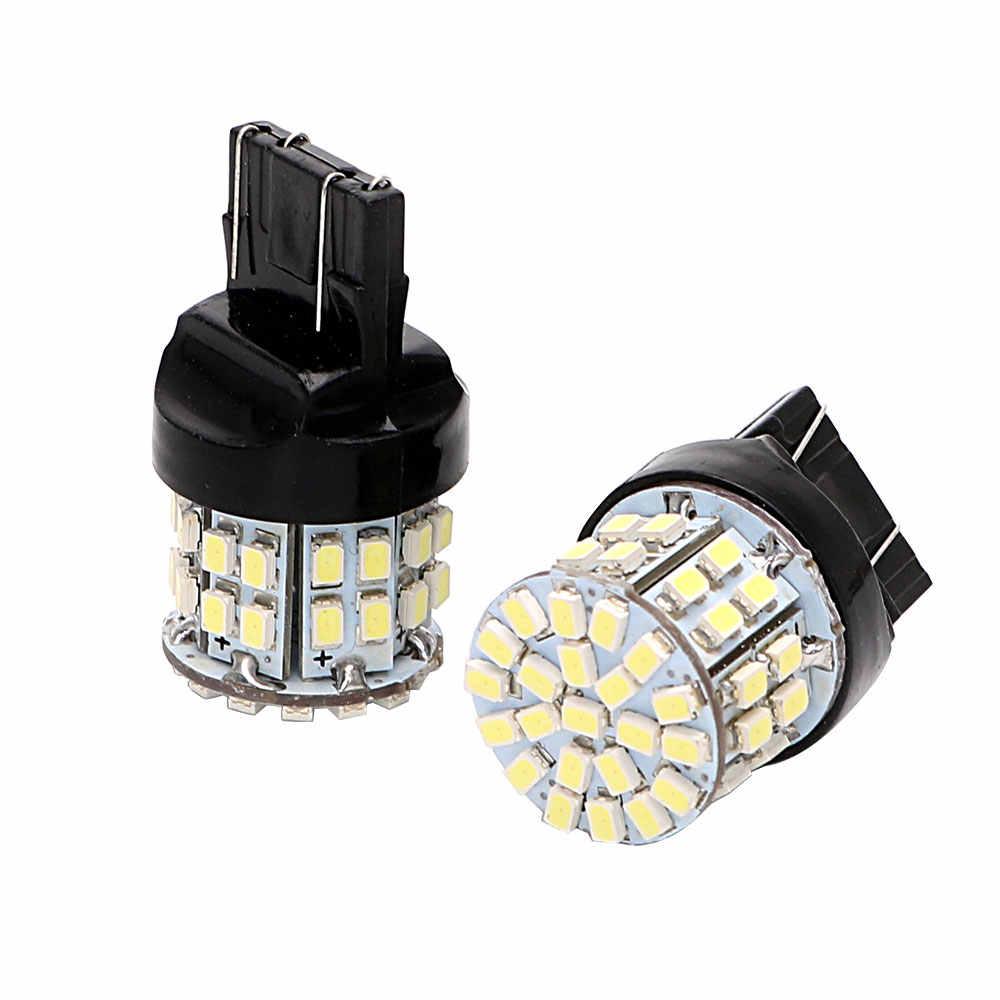 Forauto 1 ペアW21/5 ワット 50SMD車のledブレーキライトT20 7443 バックアップリザーブライトstopリア電球オートターン信号ランプ