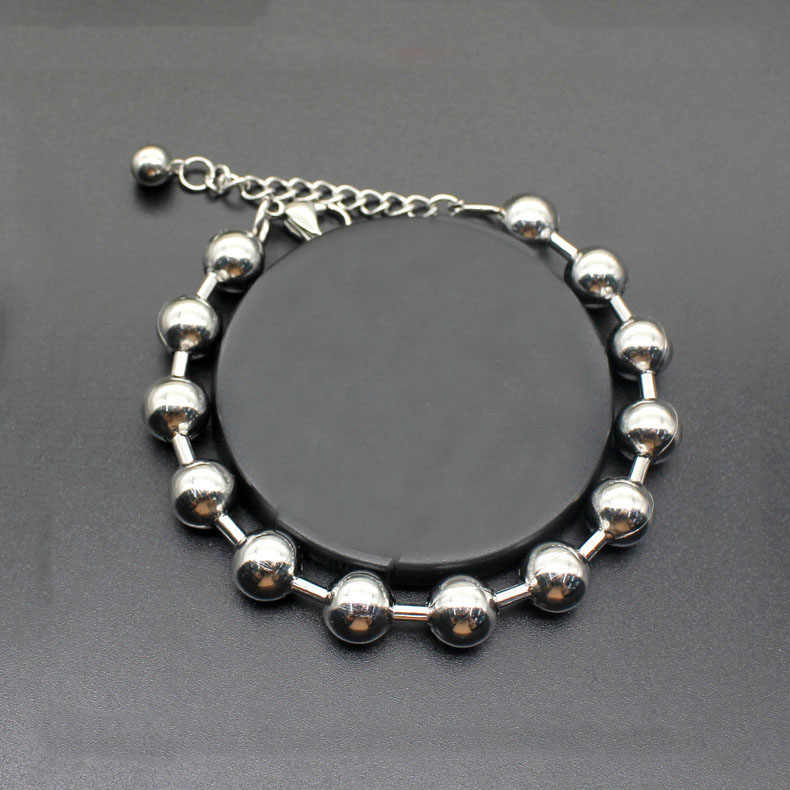 Fashion stainless steel bracelet ball titanium steel men's bracelet jewelry for man gift hot sale
