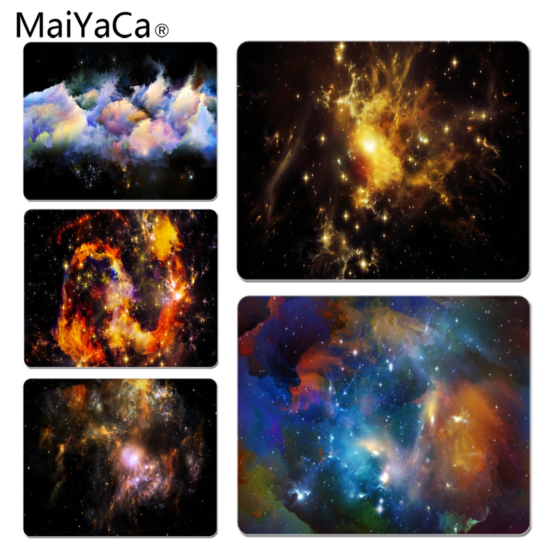 MaiYaCa New Design Beautiful Space Computer Gaming Mousemats Size for 18x22cm 25x29cm Rubber Mousemats