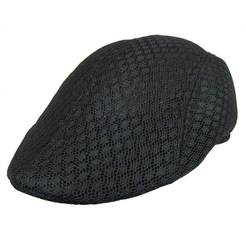 9f6e36552a1 ... New Design Mesh Newsboy Cap Mens Ivy Hat Golf Driving Summer Sun Flat  Cabbie Visors Caps ...