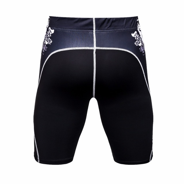 Mens Workout Fitness Compression Short Leggings Pants Bottom MMA Crossfit Weight Lifting Bodybuilding Skin Tights Short Trousers