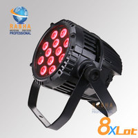 (Pack of 8) Rasha exterior Waterproof IP65 techo Hex V12 Par light with 6in1 RGBAW+UV color LED's for Outdoor events