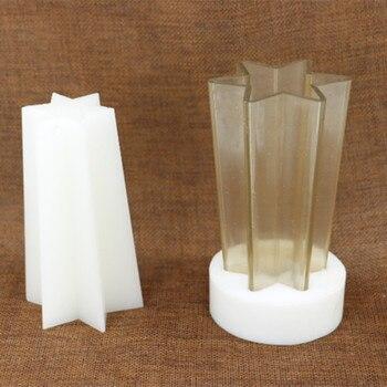 DIY diseño hexagonal fabricación de velas molde de vela, molde de vela resistente a altas temperaturas para diy