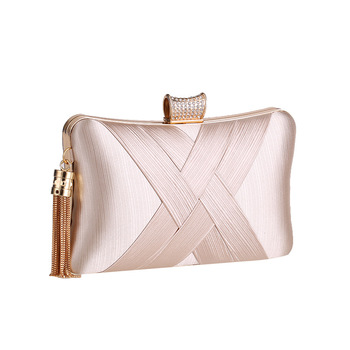 Luxury Tassel Women Evening Bags Wedding Party Day Clutches Wallet Black Silver Green Blue Chain Shoulder Handbags Purse - discount item  47% OFF Women's Handbags