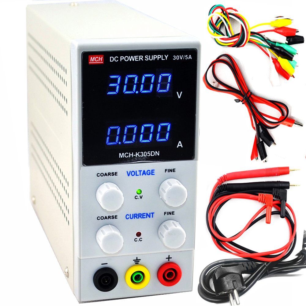 4 digit display MCH K305DN high precision Mini Switching Regulated Adjustable DC Power Supply SMPS Single Channel 30V5A Variable