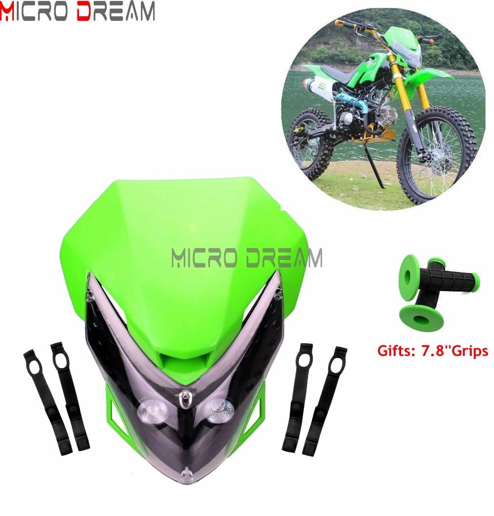 Dirt bike Universal Head light Kawasaki Kx klx klr kle zzr kdx 110 250 450 650
