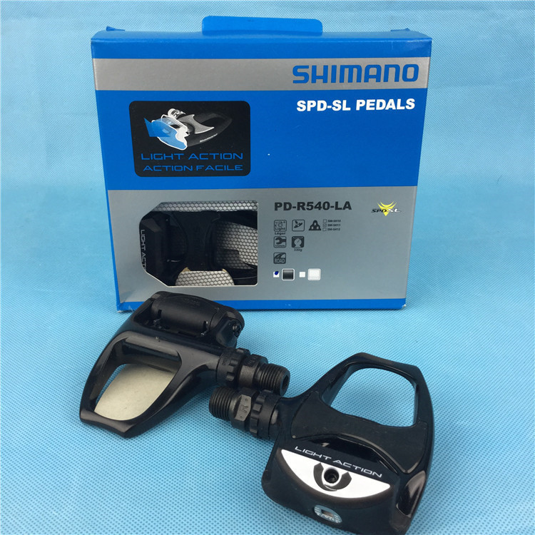 все цены на SHIMANO PD-R540-LA Road bicycle pedals bike self-locking pedal R540 light action road cycling pedals shoes cleats free ship онлайн