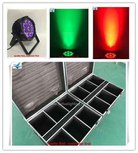 A 24light+road case China guangzhou stage light wireless wifi battery par light dmx512 outdoor 9x12w 6in1 led par can light