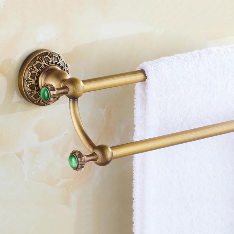bathroom accessories antique brass double towel bars bathroom towel rack wall mounted antique bathroom towel bars - Bathroom Towel Bars