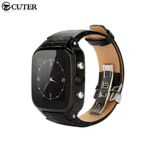 Newest Geniune Leather Smart Watch S8 plus MTK6572 Android Watch Phone with SIM slot WiFi GSM 5MP Camera 1G+8G