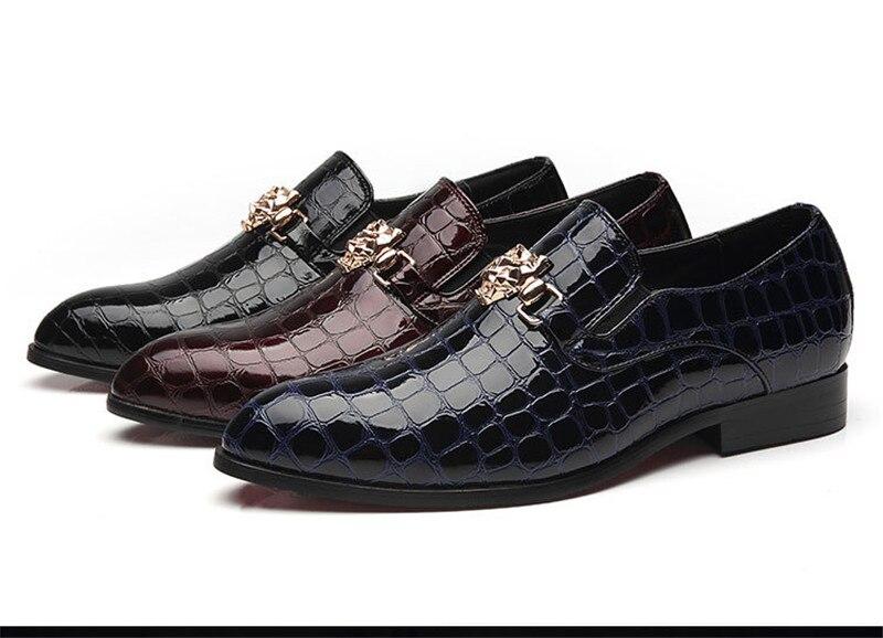 Большие размеры 46-48, мужские синие, черные платья итальянская обувь из крокодиловый кожи для офиса, дешевая официальная обувь Cocodrilo для мужчин