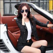 2017 New Women Leather Jacket Slim women's Pu leather coat short woman female leather jacket Plus size M-5XL