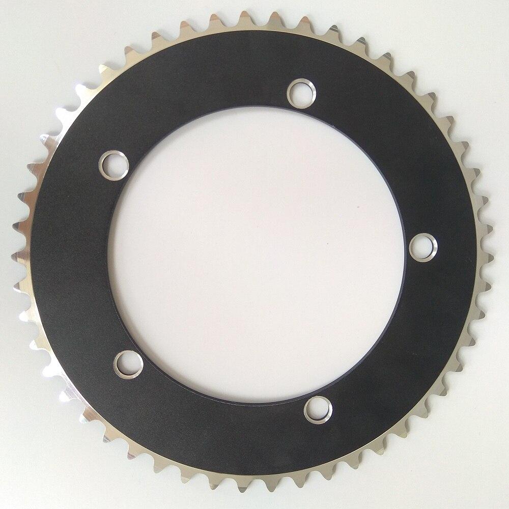 TRUYOU Engrenagem Fixa Roda de Corrente de Bicicleta 144 Liga De Alumínio CNC Bicicleta Coroa BCD 48 46 44 t t t 49 t 53 52 51 50 t t t t Única Velocidade