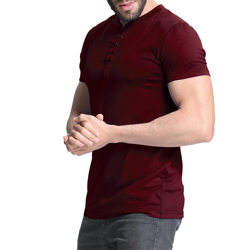 a026a1613 2018 Men's T shirt Henley Shirts Casual Muscle Tee Short Sleeve Pullover  Tshirt Men Clothes Fashion Slim Fit Male Top 3XL Hombre-in T-Shirts from  Men's ...