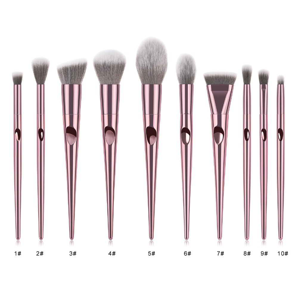 Image 2 - Luxury profession Makeup Brushes Set For Foundation Powder Blush Eyeshadow Concealer Lip Eye Make Up Brush Cosmetics Beauty Tool-in Eye Shadow Applicator from Beauty & Health