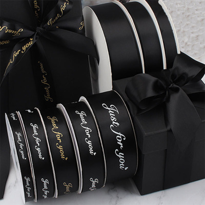 Customized printed signle face Logo 1 3cm 100yards a roll satin silk ribbon for Wedding gift packing party birthday box flower in Ribbons from Home Garden
