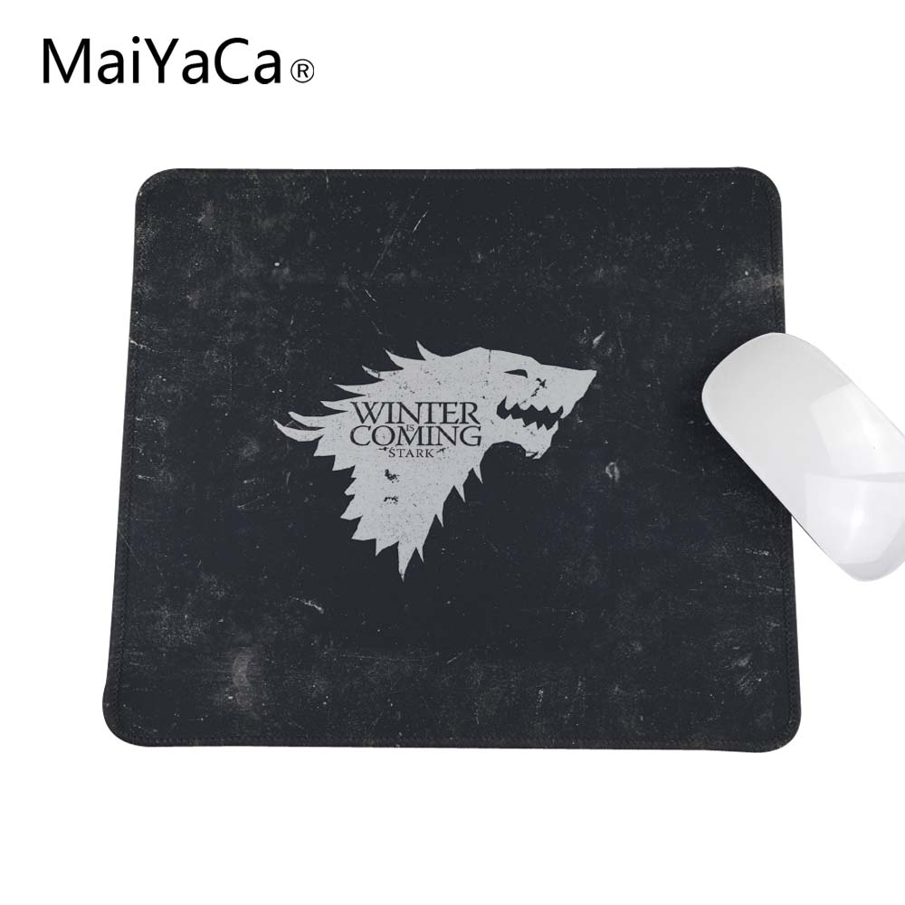 Background Game Of Thrones Winter Is Coming Anti-Slip Rectangle Mouse Pad Overlock Edge 180*220mm 200*250mm or 250*290mm