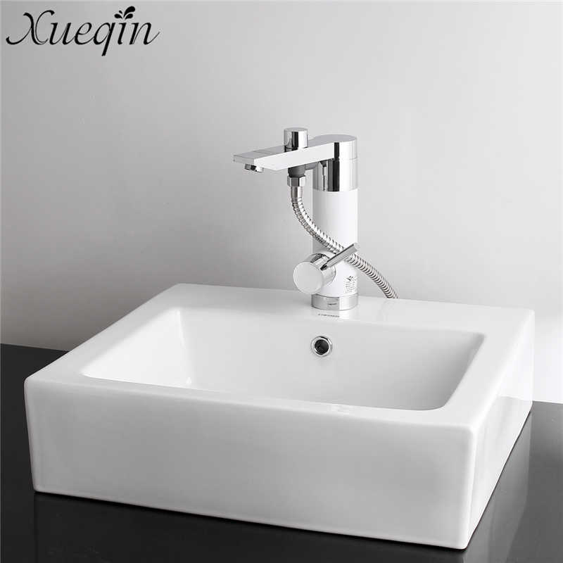 Bathroom 360 Rotatable Instantly Electric Water Heater Cold/Hot Mixer Tap Deck mounted Basin Faucets Shower Kits Bathtub