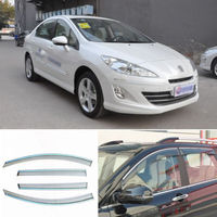 4pcs New Smoked Clear Window Vent Shade Visor Wind Deflectors For Peugeot 408