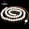 ORINERY 2017 Fall Fashion Pearl Belly Dance Waistband Fashion Designer Waist Belts Women Luxury Brand Wedding Belt Chain Jewelry