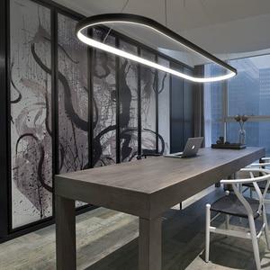 Image 4 - Длина 700/900/1200 мм современные светодиодные подвесные светильники для столовой кухни высокая яркость подвесной светильник лампа