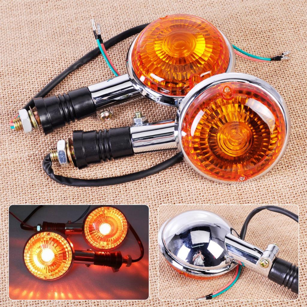 CITALL 2X Motorcycle Turn Signal Light Blinker Indicator Orange Lens for Yamaha Road Star Virago V Star Vmax XJ700 XJ700X XJ750