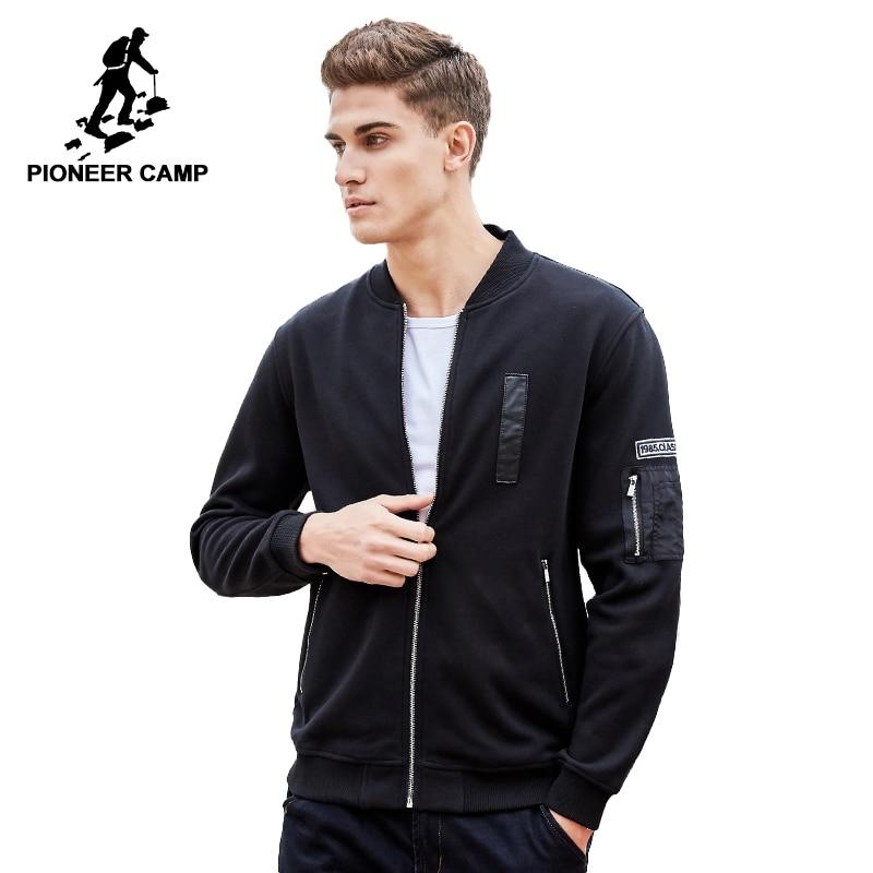Пионерский лагерь осень зима мужские толстовки на молнии бренд-одежда модная толстая флисоая кофта для мужчин высокое качество 100% хлопок ...