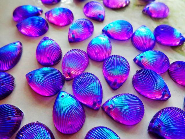 120pcs 10 14mm Sew On rhinestones Purple AB colour crystal water drop shape  resin stones flatback strass gem stones 123c4e78d037