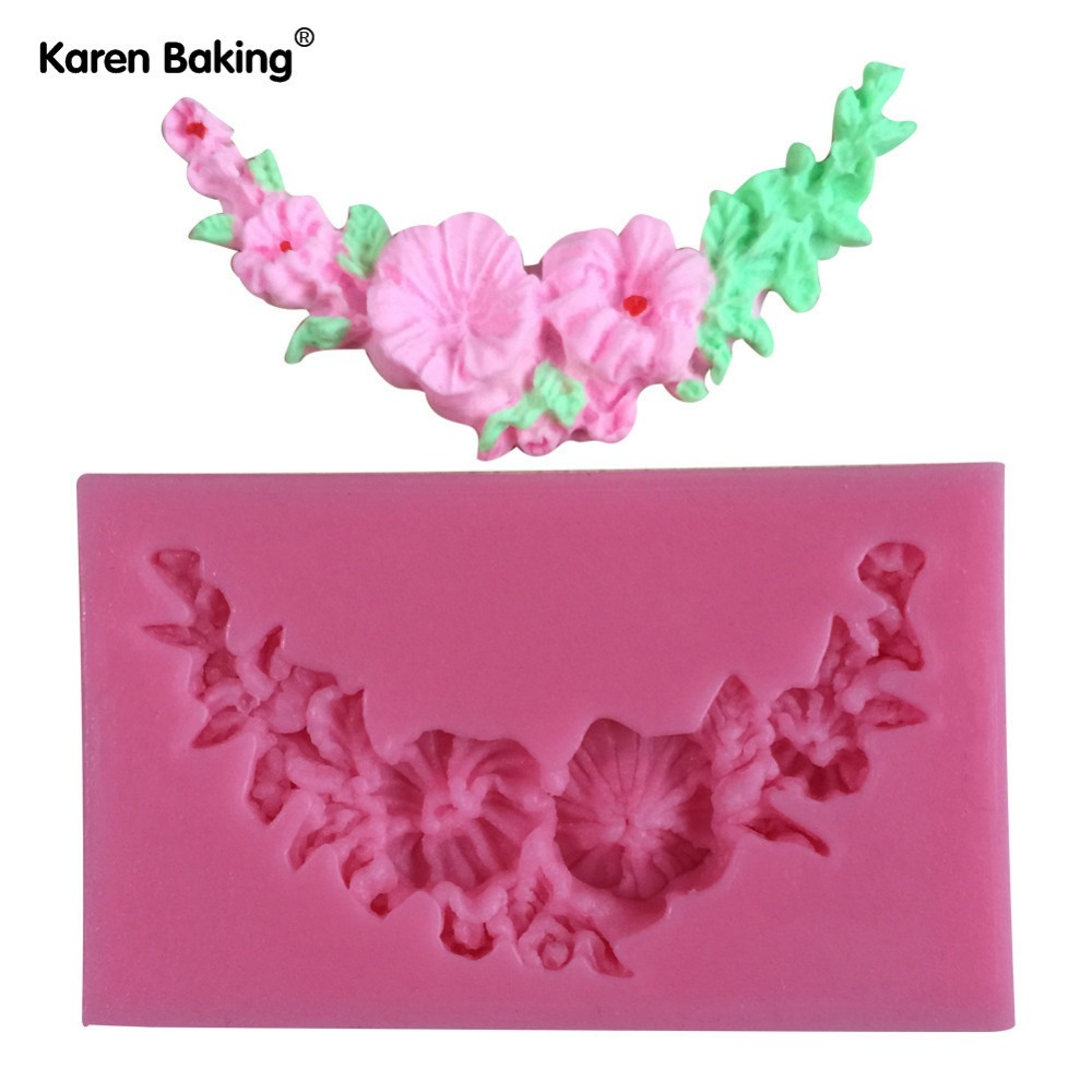 Garland Flower Circle Border Gum Paste And Cake Molds Chocolate