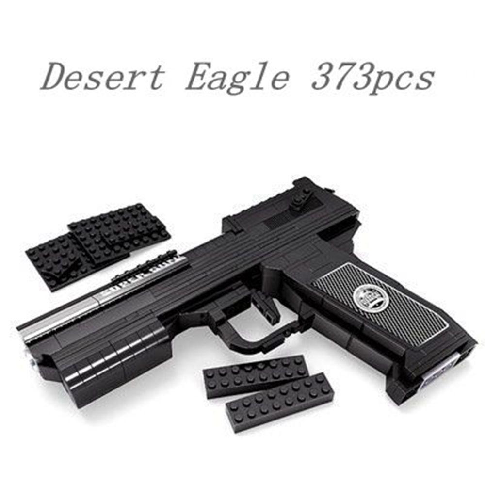 373pcs Pistol Gun Model  Gun Series Super Gun Desert Eagle Building Block Sets Educational DIY Bricks Toys