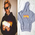 THRASHER Flame Men Women Hoodie Outerwear Streetwear Skateboard Velvet Fleece Sweatshirt Jacket Hip Hop Hooded Sweatshirt